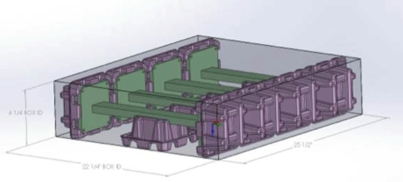 EnviroPAK molded pulp design stage